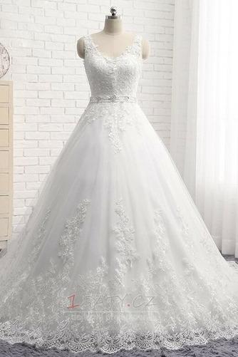 Formální Korálkový pás Střední záda Dlouhý Přírodní pas Svatební šaty - Strana 4