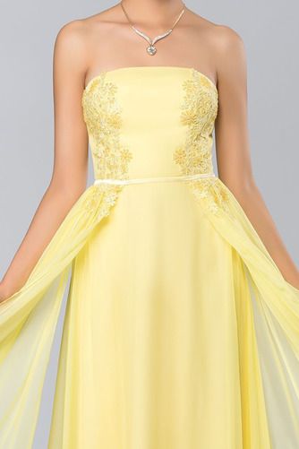 Bez ramínek Elegantní Šifón Dlouho A-Čára Střední Promové šaty - Strana 5