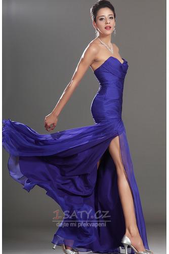 Okouzlující Délka podlahy Šifón Mořská panna Bez rukávů Promové šaty - Strana 5