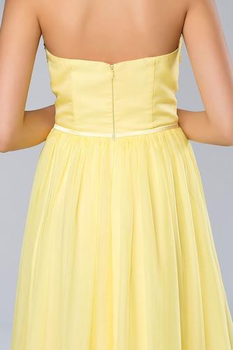 Bez ramínek Elegantní Šifón Dlouho A-Čára Střední Promové šaty - Strana 6