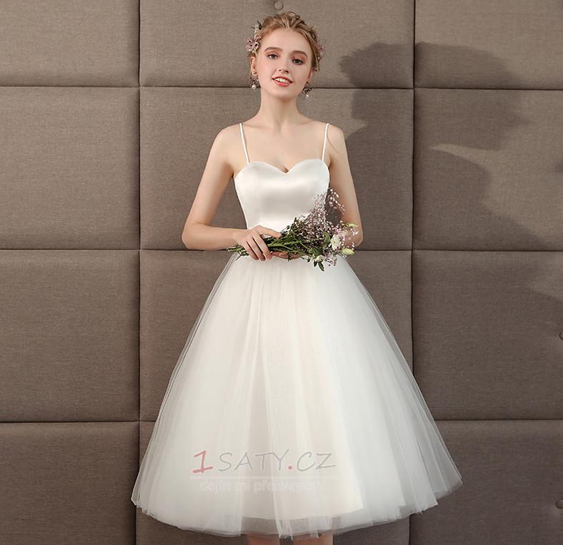 ... Tyl Léto Stupňová Úzká ramínka A-Čára Jednoduchý Svatební šaty - Strana  5 ... 2c7115b65ac